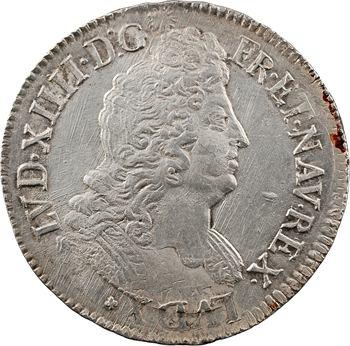 Louis XIV, écu aux insignes, 1702 Riom