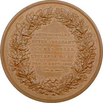 Suède, Jean Bolinder, industriel, 80e anniversaire, 1893 Stockholm