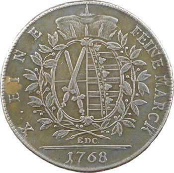 Allemagne, Saxe (royaume de), Frédéric-Auguste III, thaler, 1768 Dresde (EDC)