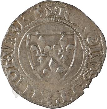 Charles VI, blanc guénar 4e émission, Sainte-Ménehould ou Châlons