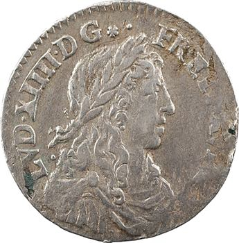 Louis XIV, douzième d'écu au buste juvénile, 16(59 ?) Amiens