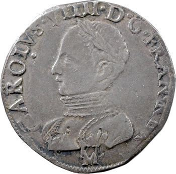 Charles IX, teston 2e type, 1563 Toulouse