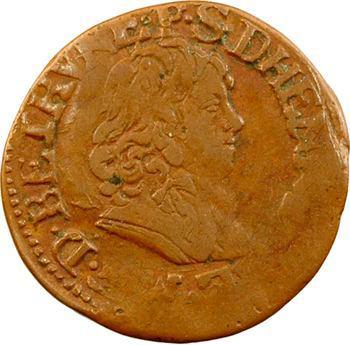 Berri, Boisbelle et Henrichemont (principauté de), Maximilien III, double tournois 4e type, 1642 Henrichemont