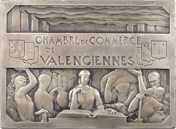 Dautel (P.-V.) : Chambre de Commerce de Valenciennes, en argent, s.d. Paris