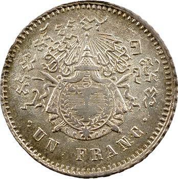 Cambodge, Norodom Ier, un franc, (1860) 1899 Phnom Penh