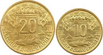 Comores, Série des 5 valeurs, 1, 2, 5, 10 et 20 francs, 1964 Paris