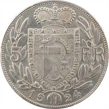 Liechtenstein (principauté du), Jean II, 5 francs, 1924, PCGS MS63