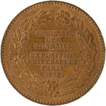 IIIe République, Exposition Universelle, module de 10 centimes, 1878 Paris