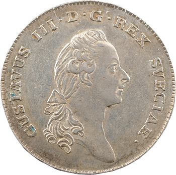 Suède (royaume de), Gustave III, 1 rixsdaler, 1782 Stockholm