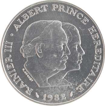 Monaco, Rainier III, essai de 100 francs en argent, 1982 Paris