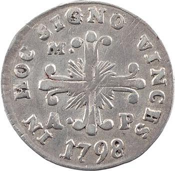 Italie, Naples (royaume de), Ferdinand IV, 10 grana, 1798 Naples