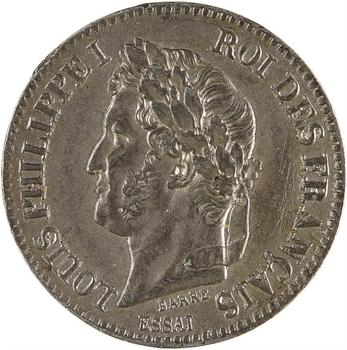 Louis-Philippe Ier, essai de 2 centimes en étain, 1846 Paris