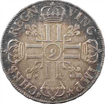 Louis XIV, écu aux huit L, 1er type, 1690 Rennes