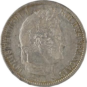 Louis-Philippe Ier, 5 francs Ier type Domard, tranche en relief, 1831 La Rochelle