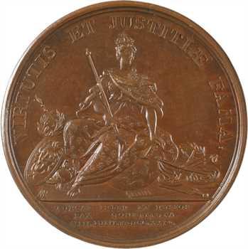 Russie/France/Turquie, Louis XV, médiation de la France entre la Turquie et la Russie, 1724 Paris, PCGS SP64