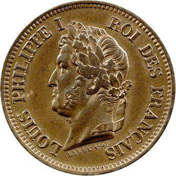 Louis-Philippe Ier, essai de 5 centimes, refonte des monnaies de cuivre, 1846 Pa