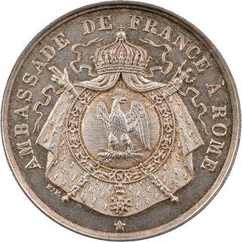 Italie, Rome, jeton de l'Ambassade de France à Rome, s.d. (Second Empire ?)
