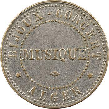 Algérie, Alger, BC Bijoux-Concert, jeton de musique, s.d