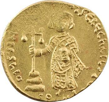 Justinien II, solidus, Constantinople, 4e officine, 687-692