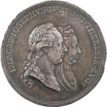 Autriche, Joseph II et Marie-Thérèse, inauguration de l'Université hongroise de Tyrnau (Trnava en Slovaquie), 1780 Vienne