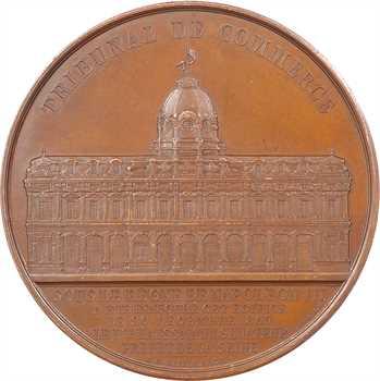 Second Empire, inauguration du tribunal de commerce de Paris, par Merley, 1865 Paris