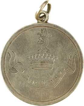 IIIe République, médaille de mariage avec couronne de comte, 1895