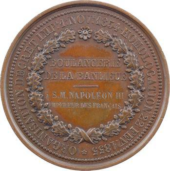 Second Empire, caisse de compensation de la boulangerie de la banlieue, attribution à Napoléon III (!), 1855 Paris
