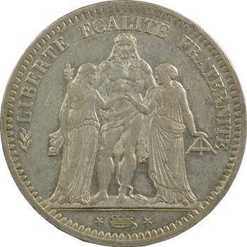 IIe République, 5 francs Hercule, 1848 Strasbourg