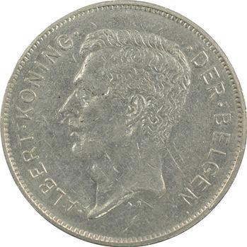 Belgique (royaume de), Albert Ier, 20 francs, 1932 Bruxelles