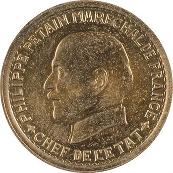 État français, essai de 5 francs Pétain type I en cupro-aluminium, 1941 Paris