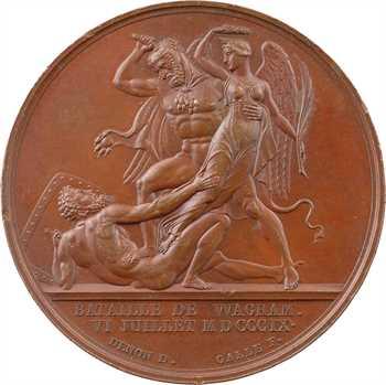 Premier Empire, la bataille de Wagram, par Andrieu et Galle, 1809 Paris
