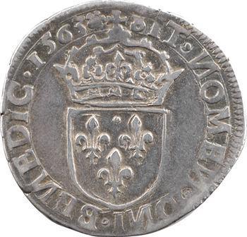 Charles IX, teston 5e type, 1563 Limoges