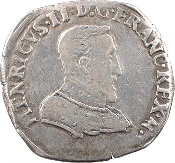 Charles IX (au nom d'Henri II), teston à la tête nue 1er type, 1560 Lyon
