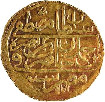Égypte, Mustafa III, Zeri Mahbub, Misr, AH 1171-(11)87 (1775)