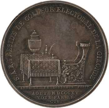 Restauration, Louis, duc d'Angoulême, en argent, août 1815