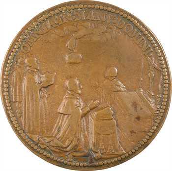 Charles X (Cardinal de Bourbon), couronnement sous la Ligue, fonte de bronze, s.d. (c.1589)