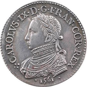 Charles IX, jeton argent du sacre à Reims, 1561, frappe postérieure, Paris
