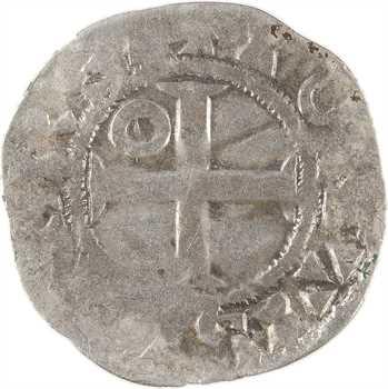 Louis VI, denier 4e type, Pontoise