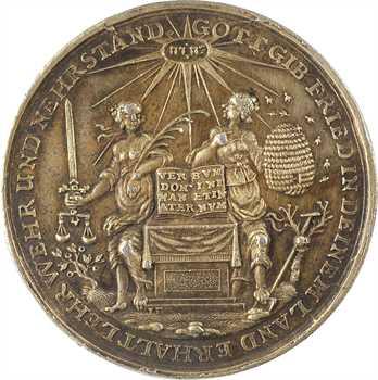 Allemagne, Hambourg (ville libre), la Paix de Westphalie, par Buchheim, s.d. (c.1650)