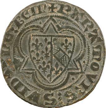 Moyen-Âge, jeton de compte, Jeanne d'Évreux et Jeanne de Bourgogne, s.d