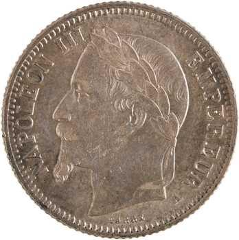 Second Empire, 1 franc tête laurée, 1866 Paris