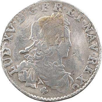 Louis XV, sixième d'écu de France, 1723 Tours
