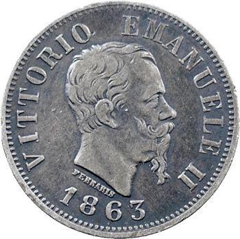 Italie (royaume d'), Victor-Emmanuel II, 50 centesimi, 1863 Turin