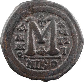 Justinien Ier, follis, Nicomédie, 1re officine, An XVIII = 544-545