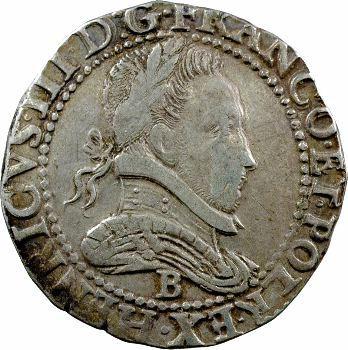 Henri III, franc au col plat, 1582 Rouen
