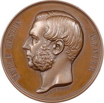 Second Empire, Émile Justin Menier (chocolaterie), obtention de la Légion d'Honneur, 1861 Paris
