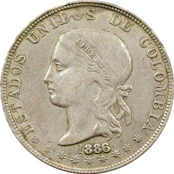 Colombie (États-Unis de), 5 décimes, 1886/4 Medellin