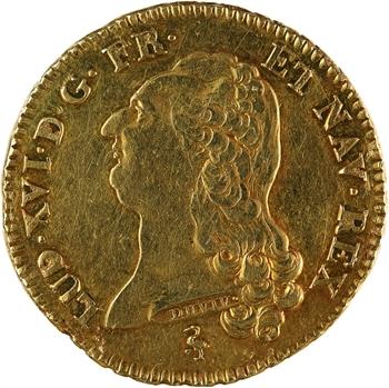 Louis XVI, double louis à la tête nue, 1787, 1er semestre, Paris