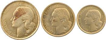 IVe République, coffret de 3 essais 10, 20 et 50 francs, 1950 Paris