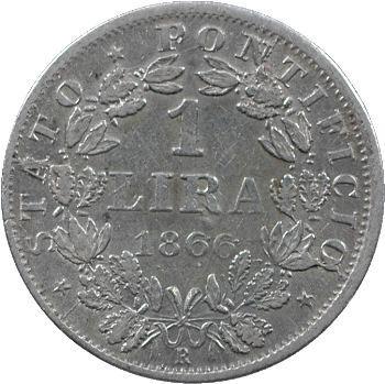 Vatican, Pie IX, 1 lire, 1866/XXI Rome